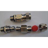 佐观高品质管螺纹英制牙G1/2金属铠装防爆接头防护等级IP68