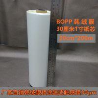 BOPP耐刮擦热裱韩绒膜0.3*200米相册画册照片专用膜1寸芯预涂触感膜