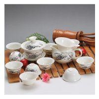 整套哥窑功夫茶具套装特价陶瓷茶壶开片瓷器冰裂釉礼盒装