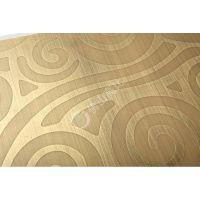 供应304#古铜拉丝蚀刻不锈钢板 高比彩色不锈钢装饰板