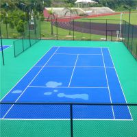东源乡村广场篮球场施工 球场材料厚度定制 柏克承接丙烯酸球场施工