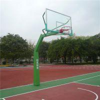 罗湖埋地独臂篮球架供应 柏克送货安装钢化透明篮球板