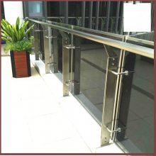 金裕 玻璃楼梯扶手栏杆 折线式楼梯不锈钢立柱 楼层窗台护栏 定做