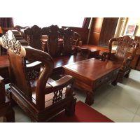 清风雅致老榆木沙发组合 客厅家具 北京实木家具生产厂家