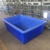 广东供应洗水漂染塑料方桶 水产方箱 多规格