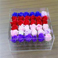 成都亚克力花盒 有机玻璃鲜花盒 透明正方形雕孔花盒定制加工厂家