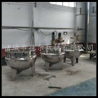 立式蒸煮锅德尔厂家直销蒸汽不锈钢夹层锅