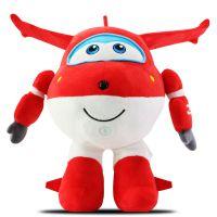 乐迪超级飞侠机器人互动学习智能机器人对话启蒙早教益智玩具短毛绒环保PP棉花