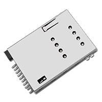 东莞 SOFNG SIM-023 尺寸:27.4mm*18.85mm*1.9mm SIM卡连接器