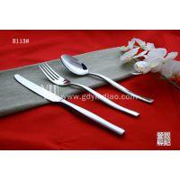 家用牛排刀叉 西餐具 不锈钢刀叉勺 不锈钢餐具 刀叉勺 买3送1