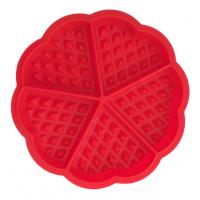 低价供应硅胶华夫饼模 waffle华夫饼烘培模具 5连心形华夫饼模