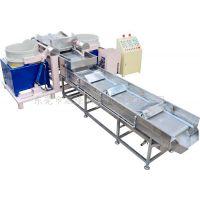 启隆380V自动筛选双桶磁力研磨机CLA