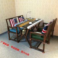 南京凯隆工业风餐厅桌椅沙发 咖啡厅酒吧休闲卡座 loft北欧