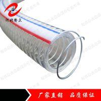 河北隆众供应优质PVC钢丝增强软管 PVC透明软管