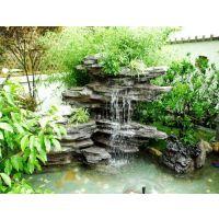 户外庭院私家别墅鱼池设计,假山鱼池建造选长沙观宇园艺