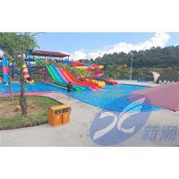 四川省水上乐园设备厂家、水上皮筏滑梯、新潮新款造浪机定制