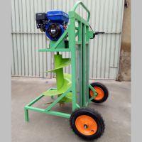 围桩栽种打坑机 家用果园汽油打坑机批发 启航斜坡栽桩打坑钻眼机