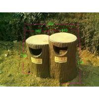 山东泰臻建材水泥仿木护栏仿树皮垃圾桶