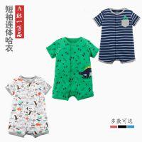 厂价直销2018新款夏季婴幼儿服装男女宝宝包屁衣爬爬服短袖连体衣