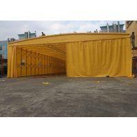 南宁移动式折叠雨棚大型装卸货篷仓库帐篷活动伸缩蓬带轮式推拉雨棚洗车蓬