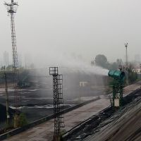 神木煤矿除尘喷雾器高塔式全自动远程遥控抑尘喷雾机 北华环保制造