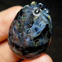 裕然珠宝彼得石吊坠男女蓝色彼得石纯手工雕刻挂件饰品礼物包邮