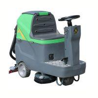汉中商场停车场用驾驶式洗地车 玛西尔DQX6环氧地坪光滑地面用洗地机