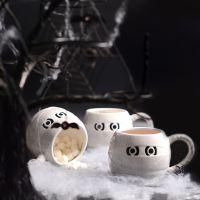 外贸原单木乃伊马克杯 白杯创意广告送礼物 促销马克杯杯子批发