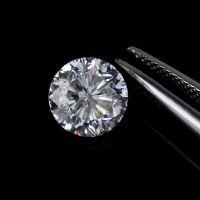 新品6.5mm莫桑石 裸石 九心一花奢白D色莫桑钻 仿真钻