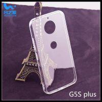 合之源产摩托罗拉G5Splus二合一透明手机壳 带防尘塞挂绳孔亚克力手机保护套厂家直销