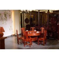 红木餐桌直销-如金红木餐桌-古典中式家具