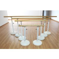 固杰 大底座移动式舞蹈房把杆 专业升降把杆优质木材