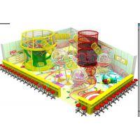 室内儿童游乐设备大型体能拓展训练乐园彩虹网淘气堡绳网游乐设施