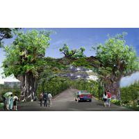 河南仿真树大门价格 施工 设计