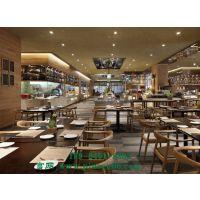 北欧主题餐厅现代实木靠背椅酒店餐厅餐椅会所洽谈椅样板房家具定制