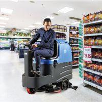 上海容恩驾驶式电动洗地机|车间厂房用电瓶双刷洗地吸干机价格