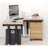 创意新款时尚L型家用简约电脑桌 板式钢木转角办公桌