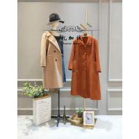设计师原创阿尔巴卡大衣品牌折扣女装批发货源