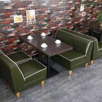 复古咖啡厅沙发组合 西餐厅桌椅 甜品卡座 奶茶店沙发桌椅