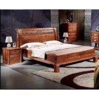 中山实木卧室家具厂名琢世家刺猬紫檀红木1.5米 1.8米 2米大床全国低价销售