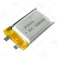 微型高倍率聚合物锂电池302030 3.7V 100mAh 20C电动玩具电池