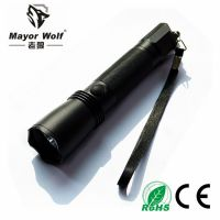 供应厂家直销 LED强光手电筒 铝合金充电电筒户外照明防身