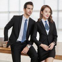 新款两件套男女同款职业装男式男士西服大学生正装工作服礼服