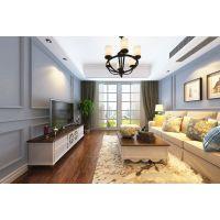 山水装饰公司设计师设计93㎡清爽简美风格3房2厅,扑面而来的清凉味道! ?