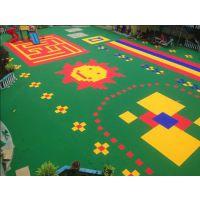 南宁幼儿园悬浮地板室外塑料地板悬浮防滑塑胶拼装地板篮球场操场运