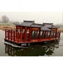 安徽厂家供应大型旅游画舫船 特色餐饮房船 大型电动船 楚歌木船制造工艺