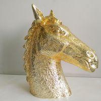 供应厂家直销电镀树脂工艺品树脂挂件马头