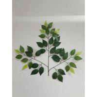 仿真榕树叶 各种仿真树叶制作 假榕叶批发 颜色可定制 效果逼真