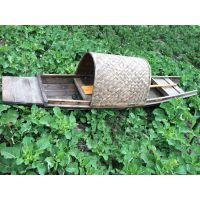 花园装饰小木船手划船乌篷船单蓬船仿古木船 小渔船