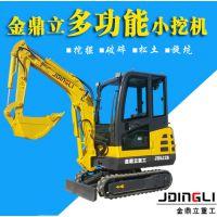 供应挖沙排污用小型挖掘机 多功能小挖机 金鼎立